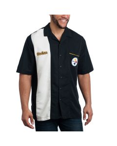 Pittsburgh Steelers Short Sleeve Bowling Strike Black Shirt