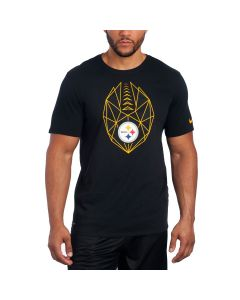 Pittsburgh Steelers Nike Short Sleeve Icon Black T-Shirt