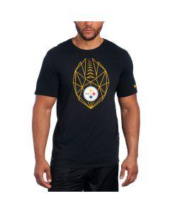 Pittsburgh Steelers Nike Short Sleeve Icon Black T-Shirt