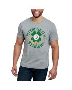 Pittsburgh Steelers St. Paddy's Day Club Grey T-Shirt
