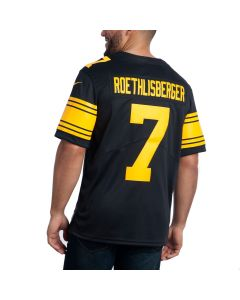 Ben Roethlisberger #7 Men's Nike Limited Color Rush Jersey