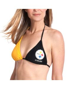 Pittsburgh Steelers Women's Swim Game Day Bikini Top
