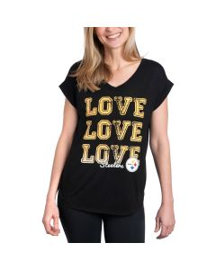 Pittsburgh Steelers Women's Concepts Sport Slumber Short Sleeve Top