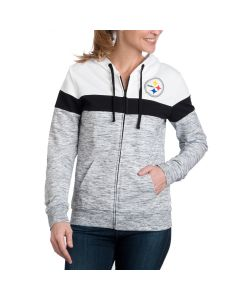 Pittsburgh Steelers Women's New Era French Terry Full Zip Hoodie
