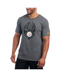 Pittsburgh Steelers Nike Short Sleeve Icon Charcoal T-Shirt