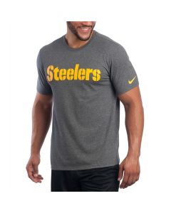 Pittsburgh Steelers Nike Short Sleeve Wordmark Charcoal T-Shirt
