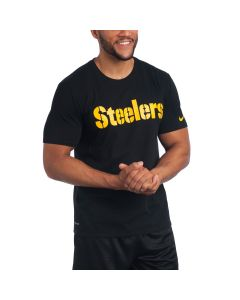 Pittsburgh Steelers Nike Short Sleeve Wordmark Black T-Shirt