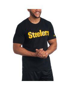 Pittsburgh Steelers Nike Short Sleeve Wordmark Black T-Shirt