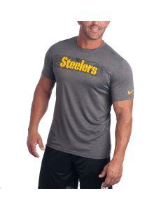 Pittsburgh Steelers Nike Legend On-field Seismic Grey Short Sleeve T-Shirt