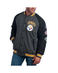 Pittsburgh Steelers Power Hitter Varsity Jacket