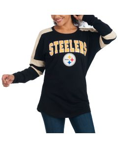 Pittsburgh Steelers Women's New Era Long Sleeve Space Dye T-Shirt