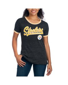 Pittsburgh Steelers Women's Short Sleeve Ringer T-Shirt