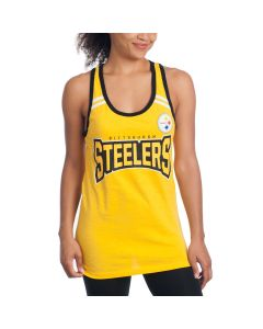Pittsburgh Steelers Women's New Era Exclusive Athletic Tank