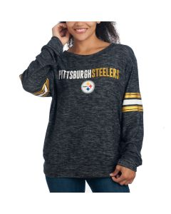 Pittsburgh Steelers Women's Space Dye Crew Neck Sweater