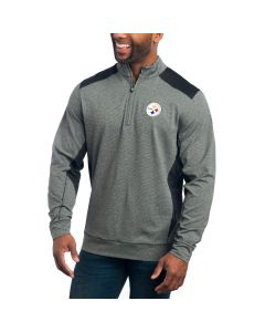 Pittsburgh Steelers Cutter & Buck Shoreline Colorblock 1/4 Zip Top