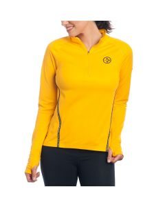Pittsburgh Steelers Nike Women's Core Gold 1/2 Zip Top