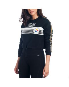 Pittsburgh Steelers Women's Cropped Long Sleeve Crew