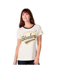 Pittsburgh Steelers Women's Kick Start Ringer Short Sleeve T-Shirt