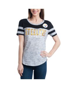 Pittsburgh Steelers Women's Exclusive Space Dye Short Sleeve T-Shirt