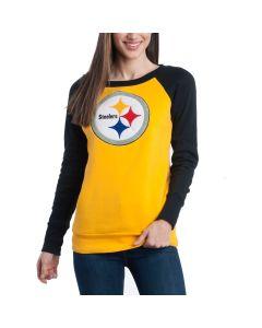 Pittsburgh Steelers Women's Top Ranking Tunic Fleece Crew