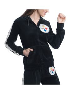 Pittsburgh Steelers Women's Touch by Alyssa Milano Laid Back Velour Hoodie