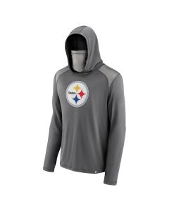 Pittsburgh Steelers Men's Haven Hood Long Sleeve T-Shirt