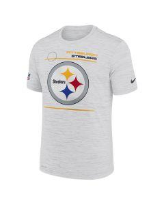 Pittsburgh Steelers Men's Nike Velocity Sideline Short Sleeve White T-Shirt