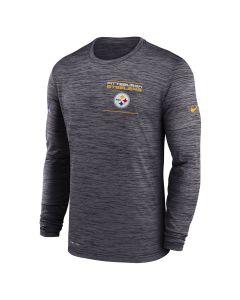 Pittsburgh Steelers Men's Nike Velocity Sideline Long Sleeve T-Shirt