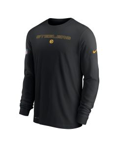 Pittsburgh Steelers Men's Nike Dri-FIT Cotton Team Issue Long Sleeve T-Shirt