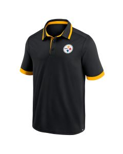 Pittsburgh Steelers Men's Poly Colorblock Primary Black Polo