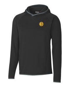 Pittsburgh Steelers Men's Traverse Color Rush Long Sleeve Hooded T-Shirt
