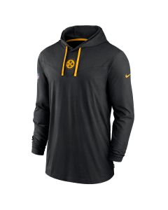 Pittsburgh Steelers Men's Nike Dri-FIT Cotton Lightweight Color Rush Long Sleeve Hoodie T-Shirt
