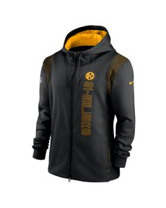 Pittsburgh Steelers Men's Nike Sideline Therma Full Zip Hoodie