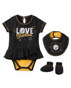 Pittsburgh Steelers Newborn Girls' Play Your Best Set
