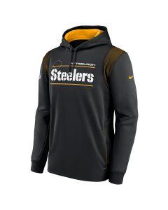 Pittsburgh Steelers Men's Nike Wordmark Therma Pullover Sideline Hoodie