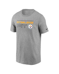 Pittsburgh Steelers Men's Nike Cotton Broadcast Short Sleeve Grey T-Shirt