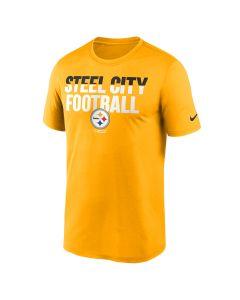 Pittsburgh Steelers Men's Nike Local Phrase Split Legend Short Sleeve Gold T-Shirt