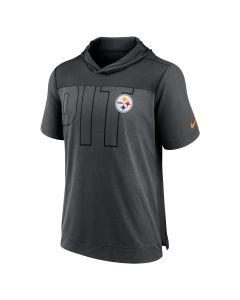 Pittsburgh Steelers Men's Nike Lightweight Team Code Hooded Short Sleeve T-Shirt