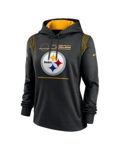 Pittsburgh Steelers Women's Nike Primary Therma Pullover Sideline Hoodie