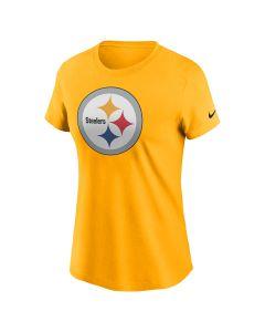 Pittsburgh Steelers Women's Nike Cotton Logo Short Sleeve Gold T-Shirt