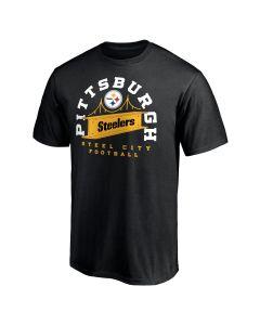 Pittsburgh Steelers Men's Push Ahead Local Short Sleeve T-Shirt