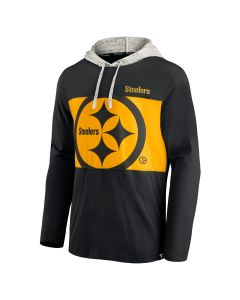 Pittsburgh Steelers Men's Unmatched Skill Color Rush Long Sleeve Hooded T-Shirt