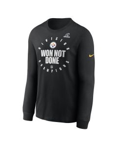 Pittsburgh Steelers Men's Nike 2020 AFC North Champions Long Sleeve T-Shirt