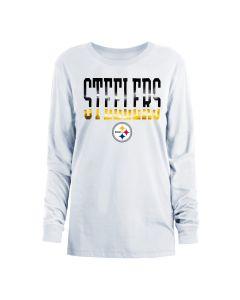Pittsburgh Steelers Women's New Era Foil Crew Long Sleeve T-Shirt