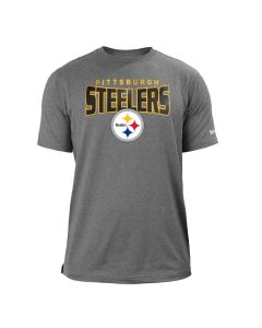 Pittsburgh Steelers Men's New Era Heathered Performance Short Sleeve T-Shirt
