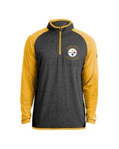 Pittsburgh Steelers Men's New Era Raglan 1/2 Zip