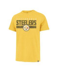 Pittsburgh Steelers Men's '47 Franklin Stripe Through Short Sleeve T-Shirt