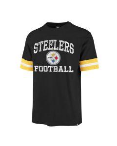 Pittsburgh Steelers Men's '47 Sleeve Stripe Practice Short Sleeve T-Shirt