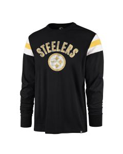 Pittsburgh Steelers Men's '47 Franklin Rooted Long Sleeve T-Shirt