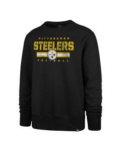 Pittsburgh Steelers Men's '47 Stencil Stripe Fleece Crew